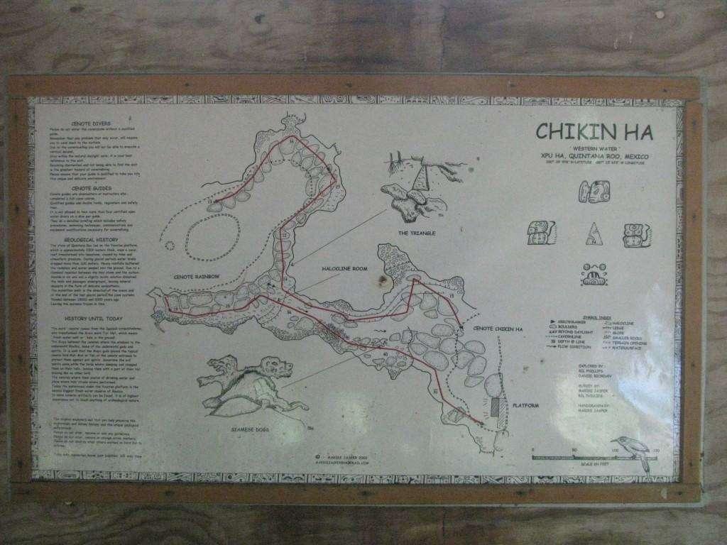 Cenote Chikin Ha - Map of the cavern dive